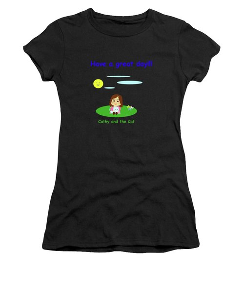 Cathy And The Cat Have A Great Day Women's T-Shirt