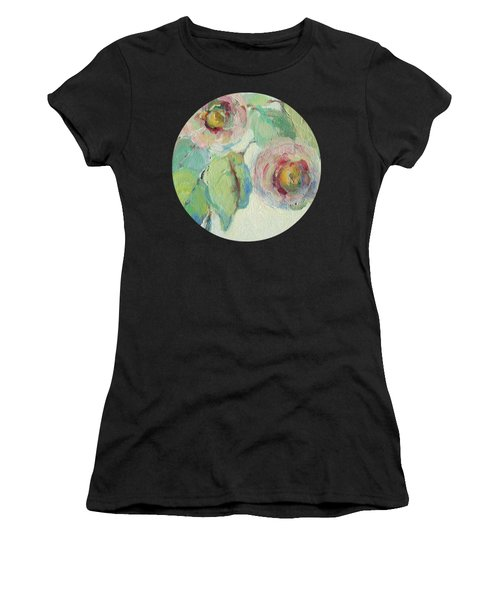 Impressionist Roses  Women's T-Shirt (Athletic Fit)