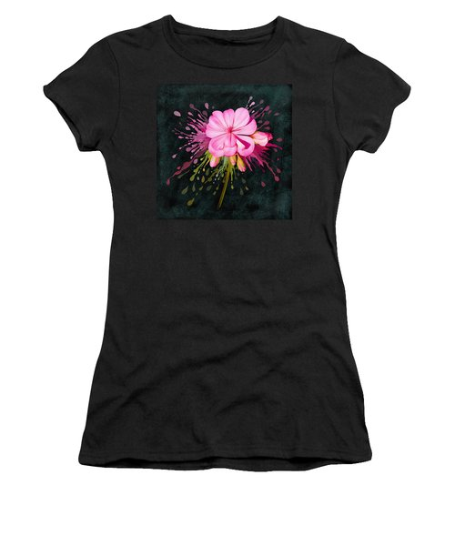 Women's T-Shirt featuring the painting Color Eruption  by Ivana Westin