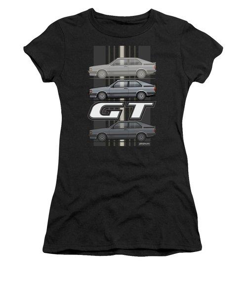 Four Rings Coupe Gt B2 Stone Grey Metallic Women's T-Shirt