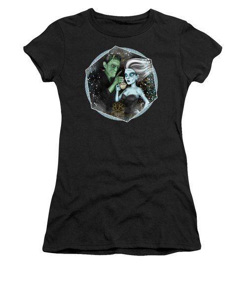 Frankenstien Fantasy Art Women's T-Shirt (Athletic Fit)