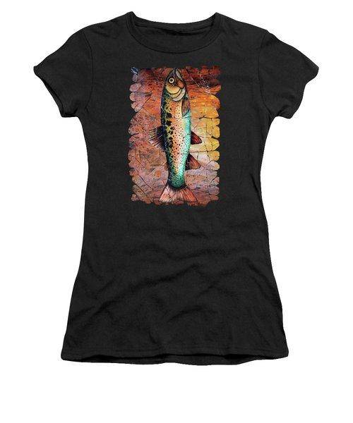 Vintage Red Trout Fresco  Women's T-Shirt