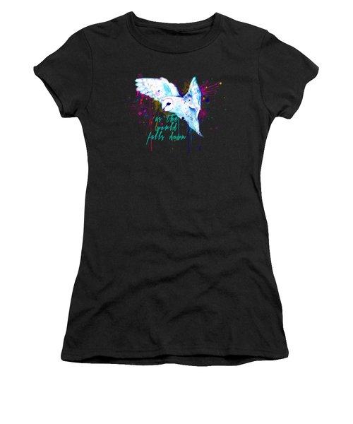 Rainbow Barn Owl Labyrinth Variant Women's T-Shirt