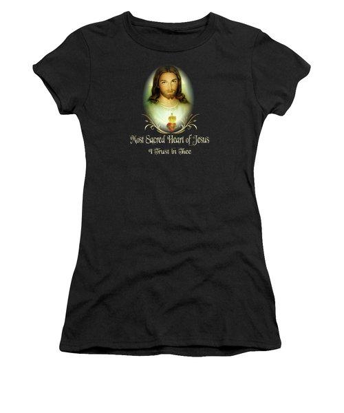 Sacred Heart Of Jesus St Faustina St Margaret Mary Women's T-Shirt