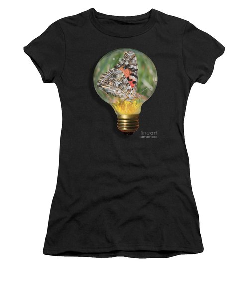 Butterfly In Lightbulb Women's T-Shirt