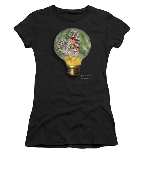 Butterfly In Lightbulb Women's T-Shirt (Athletic Fit)
