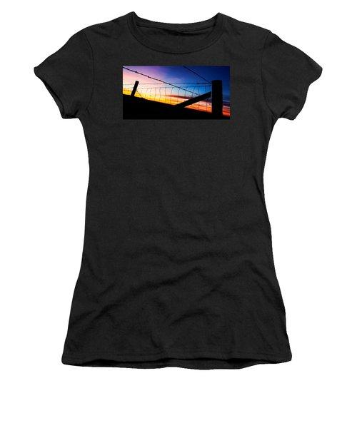 Women's T-Shirt (Junior Cut) featuring the photograph Hilltop Sunset by Bill Kesler