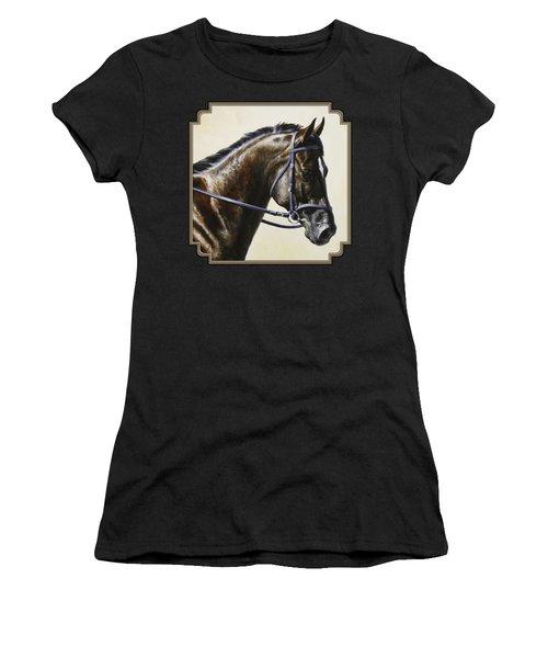 Dressage Horse - Concentration Women's T-Shirt (Athletic Fit)