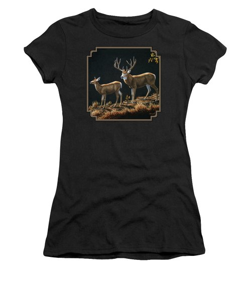 Mule Deer Ridge Women's T-Shirt (Athletic Fit)
