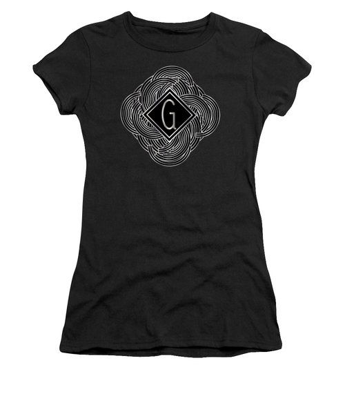 Deco Jazz Swing Monogram ...letter G Women's T-Shirt