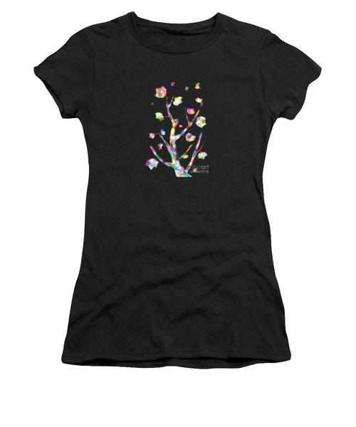 Rainbow Tree Women's T-Shirt (Athletic Fit)