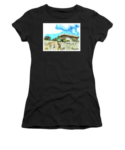 Arzachena Mushroom Rock Women's T-Shirt (Athletic Fit)