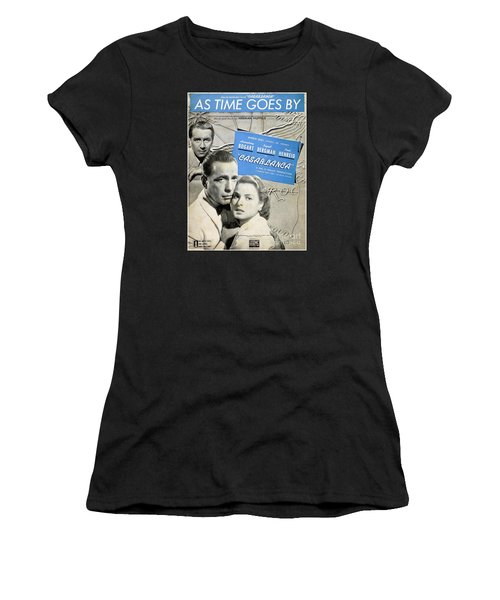 As Time Goes By Sheet Music Women's T-Shirt (Athletic Fit)