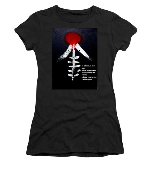 Asahinoataruie Women's T-Shirt (Junior Cut) by Roberto Prusso