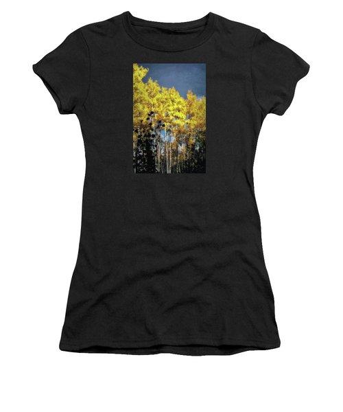 Women's T-Shirt (Junior Cut) featuring the photograph Aspen Impressions by Jim Hill
