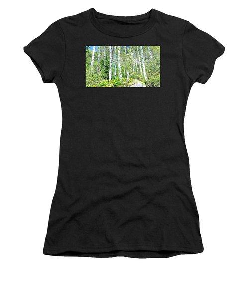 Aspen Splender Steamboat Springs Women's T-Shirt (Athletic Fit)