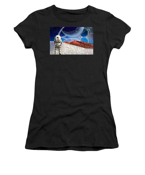 Astronaut On Exosolar Planet Women's T-Shirt (Athletic Fit)