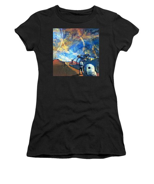Astronauts On A Red Planet Women's T-Shirt (Athletic Fit)