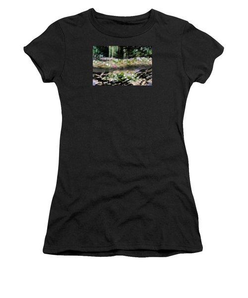 Women's T-Shirt (Junior Cut) featuring the photograph At Claude Monet's Water Garden 9 by Dubi Roman