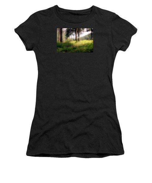 At Menashe Forest Women's T-Shirt (Junior Cut) by Dubi Roman