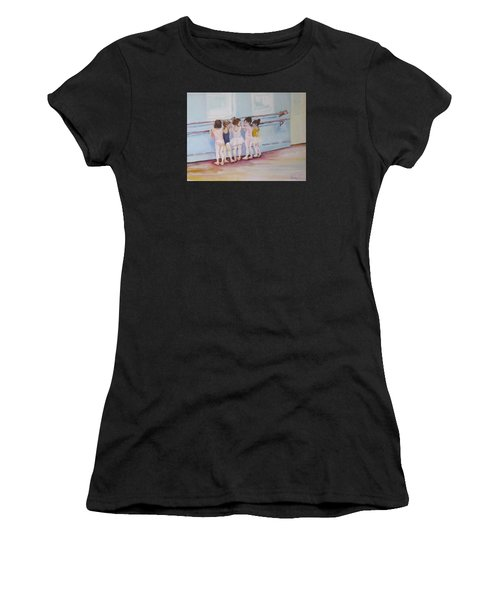 At The Barre Women's T-Shirt (Athletic Fit)