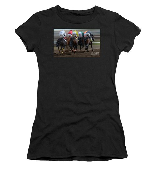 At The Racetrack 4 Women's T-Shirt
