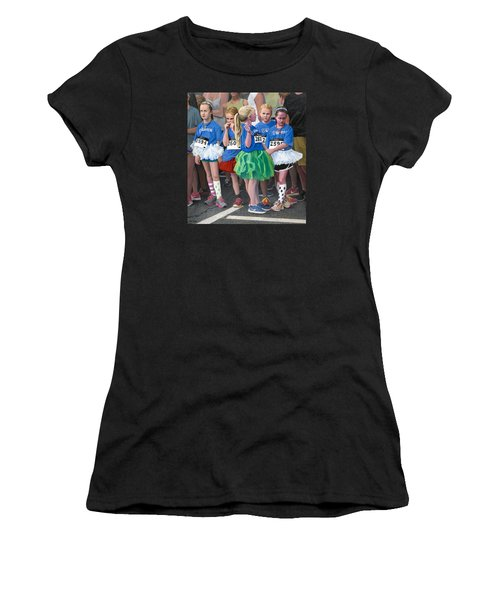 At The Start Of Their Run Women's T-Shirt (Junior Cut) by Mark Lunde