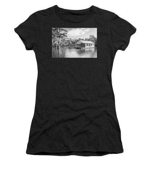 Atchafalaya Basin Fishing Camp Women's T-Shirt