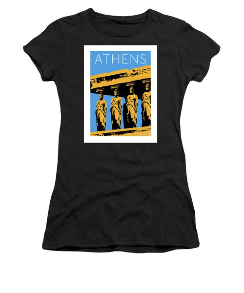 Athens Erechtheum Blue Women's T-Shirt