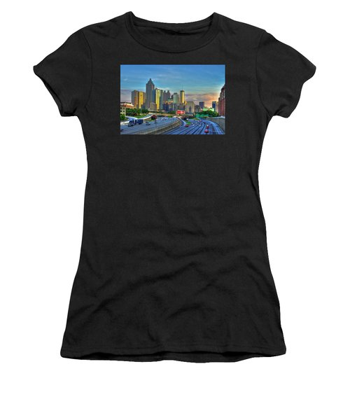 Atlanta Coca-cola Sunset Reflections Art Women's T-Shirt