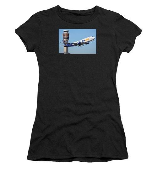 Atlas Air Boeing 747-446 N465mc Phoenix Sky Harbor January 12 2015 Women's T-Shirt