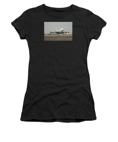 Atlas Air Boeing 747-45e-sf N473mc Phoenix Sky Harbor December 24 2015 Women's T-Shirt (Athletic Fit)