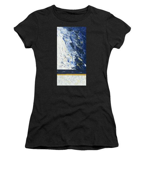 Women's T-Shirt featuring the painting Atmospheric Conditions, Panel 2 Of 3 by Kathryn Riley Parker