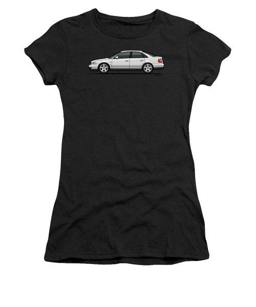 Audi A4 Quattro B5 Type 8d Sedan White Women's T-Shirt