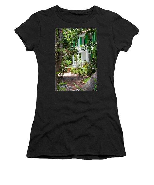 Audubon House Entranceway Women's T-Shirt (Athletic Fit)