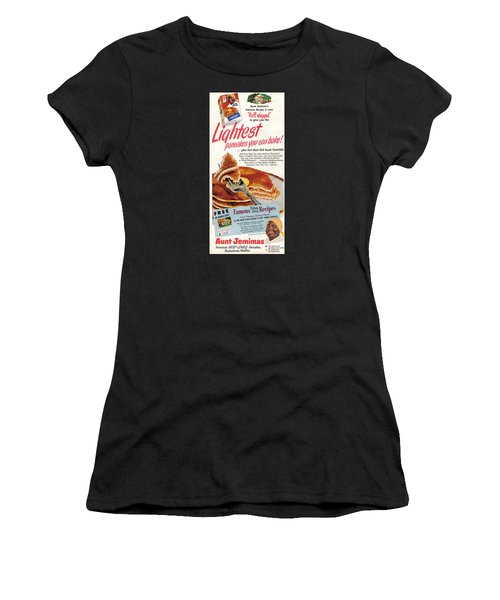 Women's T-Shirt featuring the digital art Aunt Jemima Pancakes by ReInVintaged