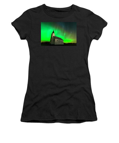 Aurora And Country Church Women's T-Shirt (Athletic Fit)
