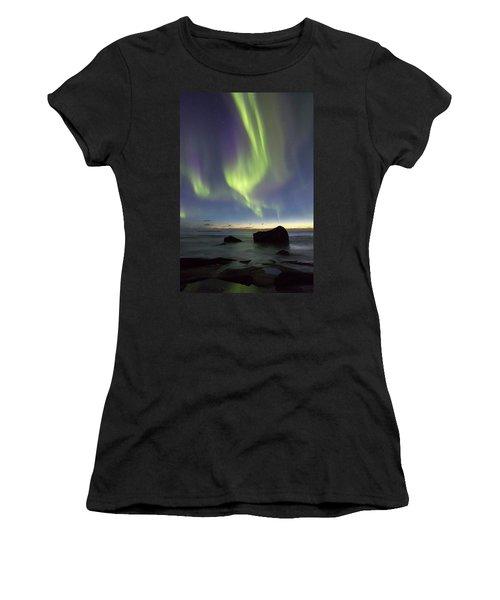 Aurora At Uttakleiv Women's T-Shirt