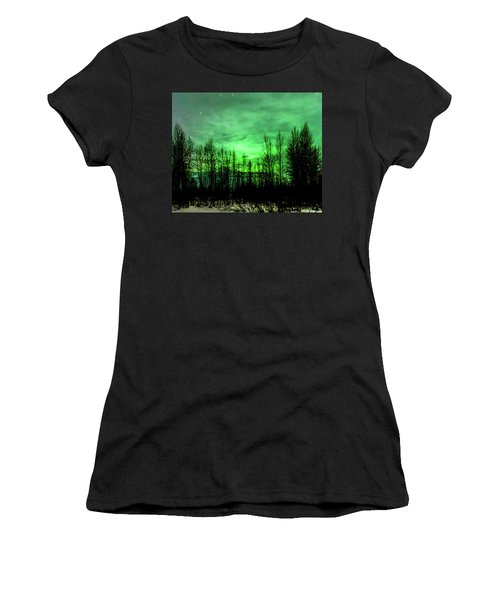 Aurora In The Clouds Women's T-Shirt