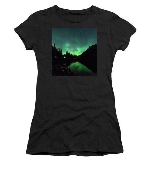 Aurora On Moraine Lake Women's T-Shirt
