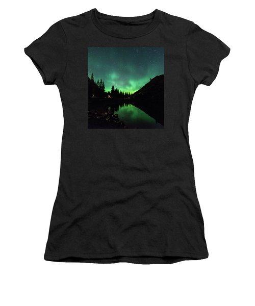 Aurora On Moraine Lake Women's T-Shirt (Athletic Fit)