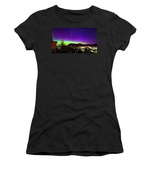 Aurora Over Mt Wellington, Hobart Women's T-Shirt