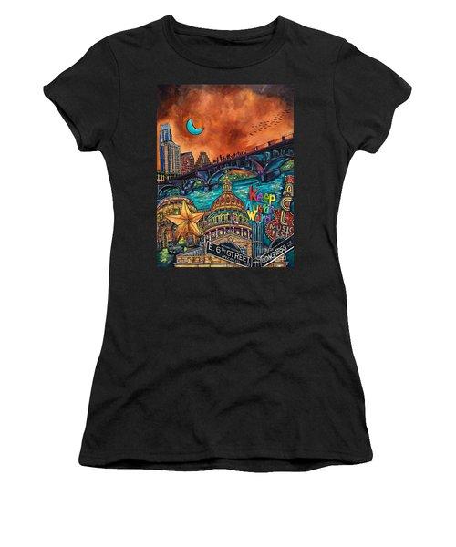 Austin Keeping It Weird Women's T-Shirt (Athletic Fit)