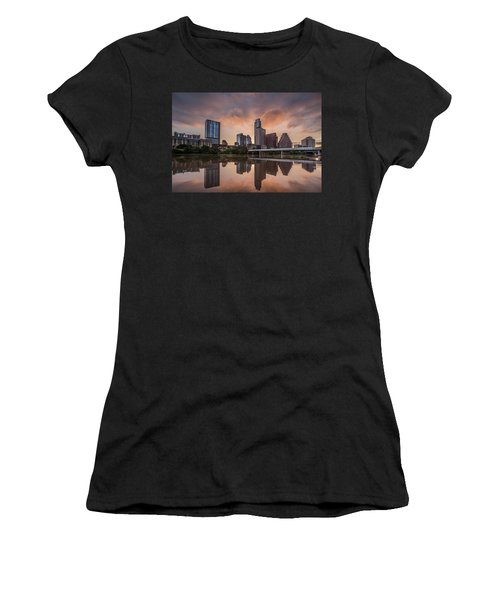 Austin Skyline Sunrise Reflection Women's T-Shirt (Athletic Fit)