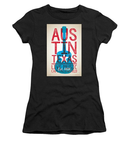 Austin Texas - Live Music Women's T-Shirt (Athletic Fit)