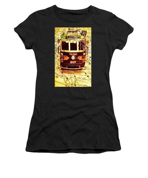 Australia Travel Tram Map Women's T-Shirt