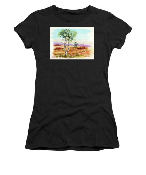 Australian Landscape Sketch Women's T-Shirt (Athletic Fit)