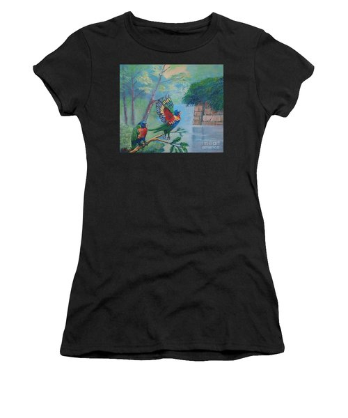 Australian Rainbow Parrots Women's T-Shirt