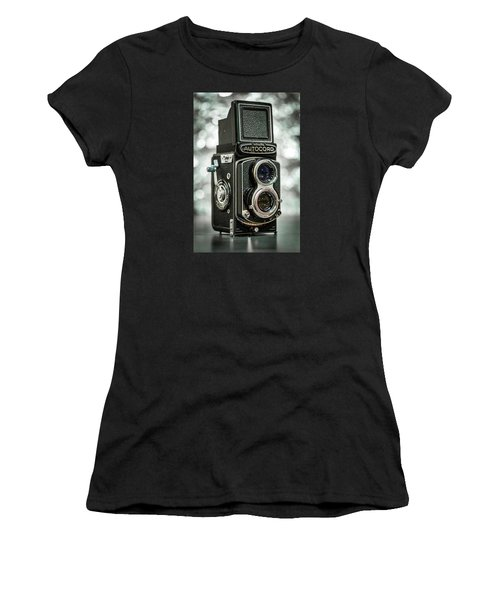 Women's T-Shirt (Junior Cut) featuring the photograph Autocord by Keith Hawley