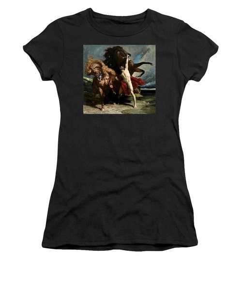 Automedon With The Horses Of Achilles Women's T-Shirt (Athletic Fit)